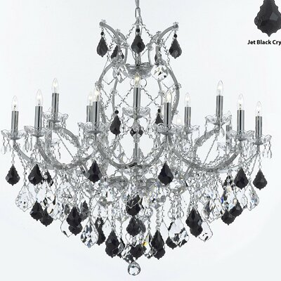 Keenum 16-Lighting Crystal Chandelier