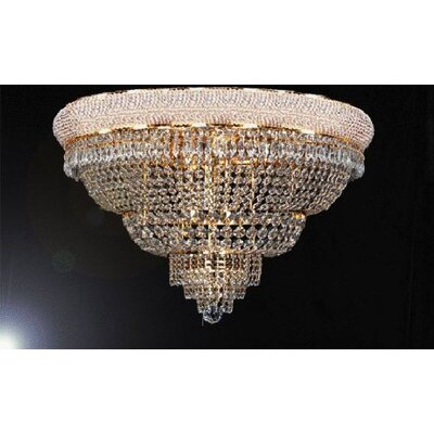 Logsdon 21-Light Crystal Flush Mount