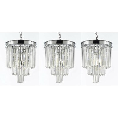 Keever Empress 3-Light Crystal Chandelier