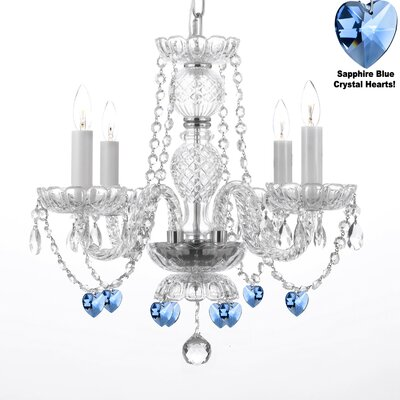 4-Light LED Crystal Chandelier