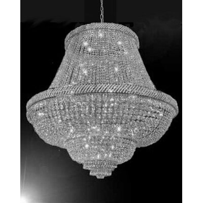 Edwards 45-Lights LED Empire Chandelier