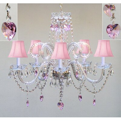 5-Lights LED Shaded Chandelier