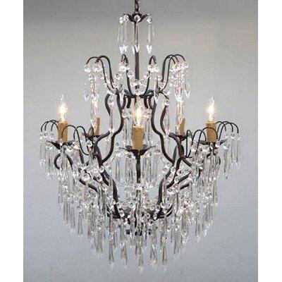5-Light LED Crystal Chandelier