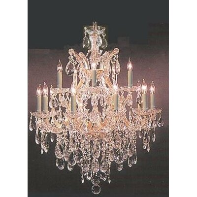 Kingstowne 13-Lights LED Candle-Style Chandelier