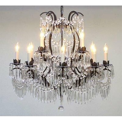 12-Light LED Candle-Style Chandelier