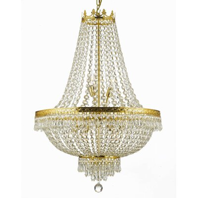 Swarovski French 9-Light Empire Chandelier