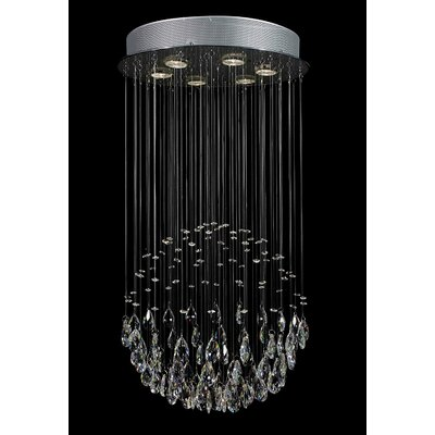 Antoninus 6 Light Chrome Waterfall Chandelier