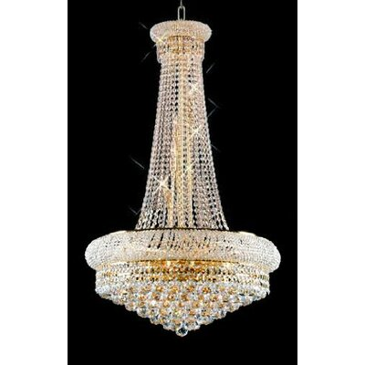 Stanton Trimmed French 15-Light Empire Crystal Chandelier