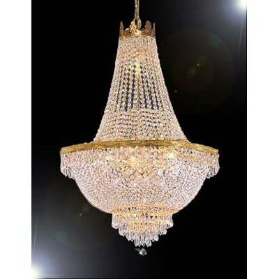Swarovski Trimmed Crystal 9-Light Empire Chandelier