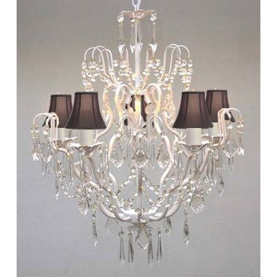 Clemence 5-Light Black Shade Candle-Style Chandelier