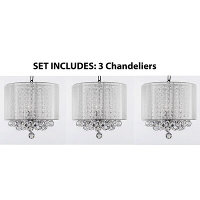 Huddleston 3-Light Crystal Chandelier