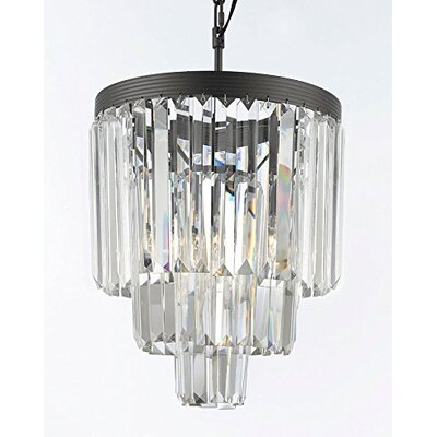 Keever 3-Light Crystal Chandelier