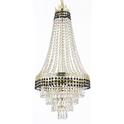 Stewart 4-Light Crystal Chandelier Finish: Jet Black