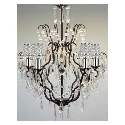 Clemence 5-Light Chain Crystal Chandelier