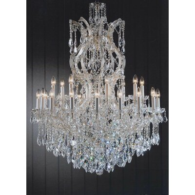 Alvarado 25-Light Crystal Glass Chandelier Color: Gold