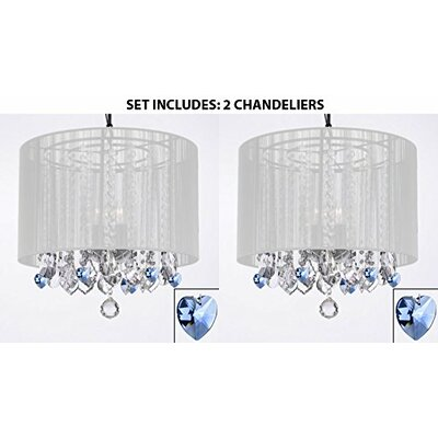Rozendale 3-Light Drum Chandelier