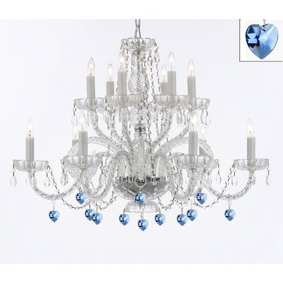 Bowerville 12-Light Crystal Chandelier