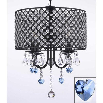 Anabranch Wrought 4-Light Candle-Style Chandelier