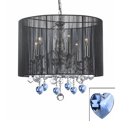 Carabury Hearts 6-Light Candle-Style Chandelier