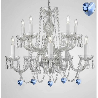 Boxwell 10-Light Shaded Chandelier