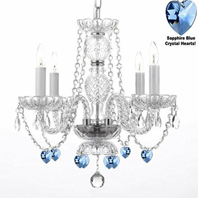 Boxwell 4-Light Crystal Chandelier