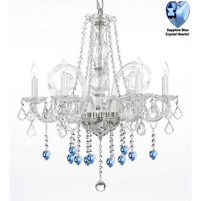 Maldives 5-Light Crystal Chandelier