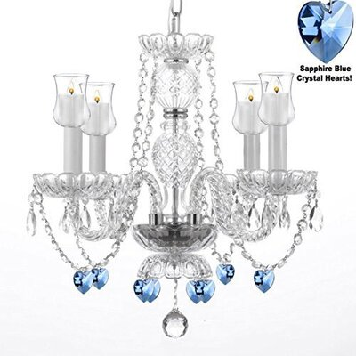 Raemoore 4-Light Crystal Chandelier