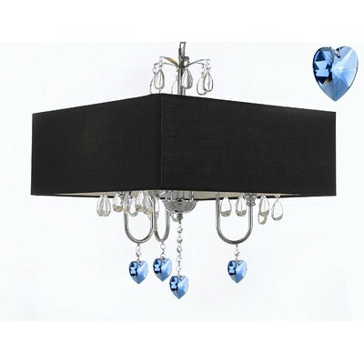 Branigans 3-Light Drum Chandelier Shade Color: Black