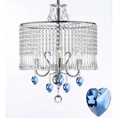 Braseby 3-Light Crystal Chandelier