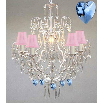Moroccan 5-Light Crystal Chandelier