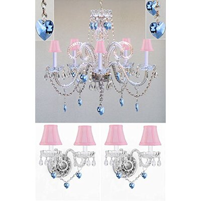 Breckler 5-Light Crystal Chandelier