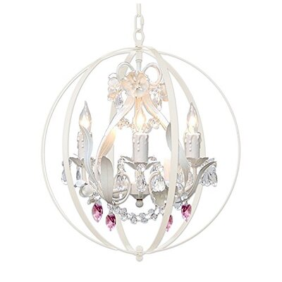 Hackford Floral Orb and Hearts 4-Light Mini Chandelier