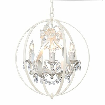 Hackford Floral Orb 4-Light Mini Chandelier