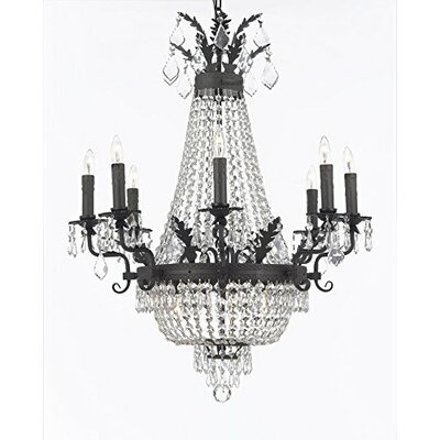 Ginnie Crystal 12-Light Candle-Style Chandelier Crystal Color: Clear