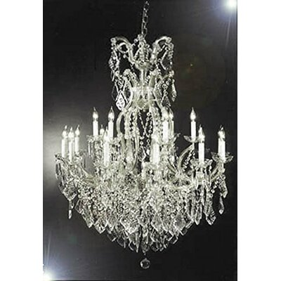 Swigert Candle-Style 16-Light LED Crystal Chandelier