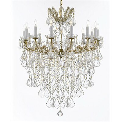 Alvarado 14-Light LED Crystal Chandelier