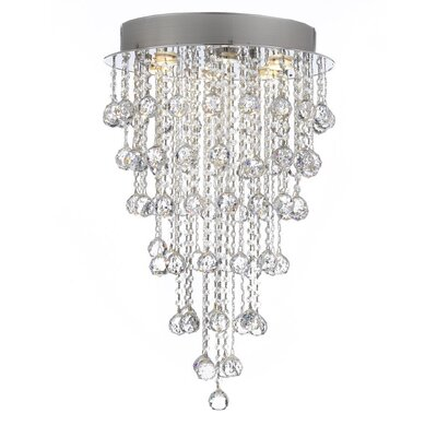 Rosalina Crystal Rain Drop 6-Light LED Flush Mount