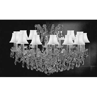 Alvarado Swarovski 14-Light Crystal Chandelier Shade Color: White