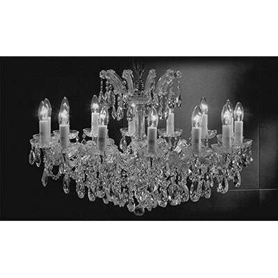 Alvarado Empress 14-Light Crystal Chandelier Finish: Silver