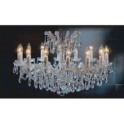 Alvarado Empress 14-Light Crystal Chandelier Finish: Gold