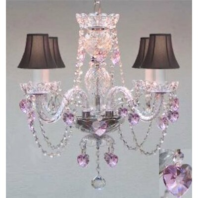 Draeger 4-Light Crystal Chandelier