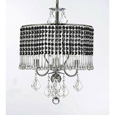 Parson 3-Light Crystal Chandelier Shade Color: Black