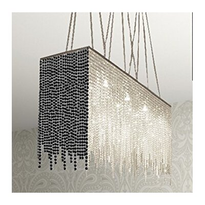 Juno 10-Light Crystal Chandelier Shade Color: Black
