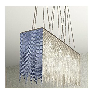 Juno� 10-Light Crystal Chandelier Shade Color: Blue