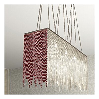 Juno� 10-Light Crystal Chandelier Shade Color: Red