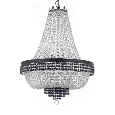 Monika Crystal 9-Light Empire Chandelier Finish: Dark Antique