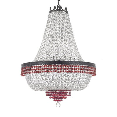 Monika Crystal 9-Light Empire Chandelier
