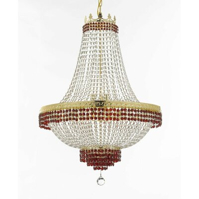 Weidner 14-Light Empire Chandelier Finish: Gold