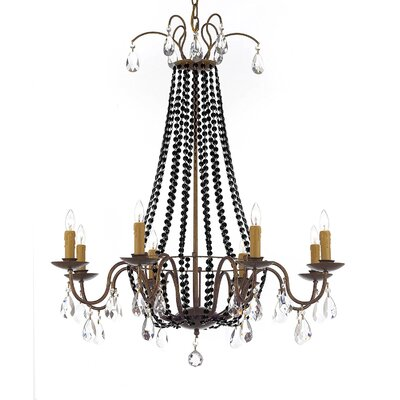 Weigand 8-Light Candle-Style chandelier Crystal Color: Black