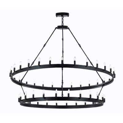 Malave Metal 54-Light Candle-Style Chandelier